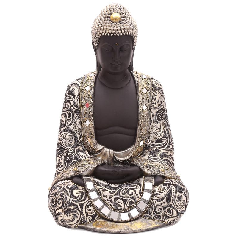 Decorative Thai Buddha Metallic Figurine