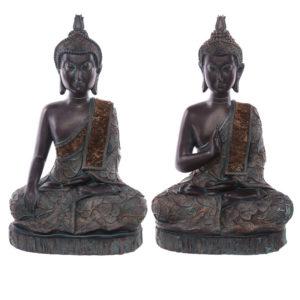 Decorative Verdigris Large Sitting Thai Buddha