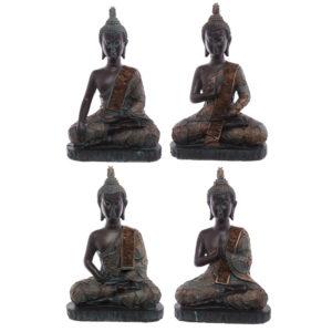 Decorative Verdigris Medium Sitting Thai Buddha