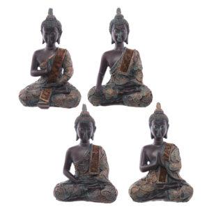 Decorative Verdigris Small Sitting Thai Buddha