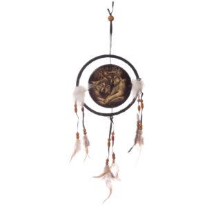 Decorative Wolf Companions 16cm Dreamcatcher