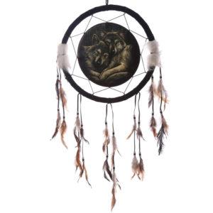 Decorative Wolf Companions 34cm Dreamcatcher