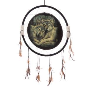 Decorative Wolf Companions 60cm Dreamcatcher
