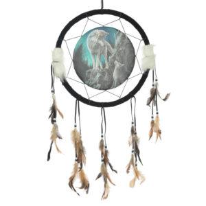 Decorative Wolf Design Dreamcatcher Medium