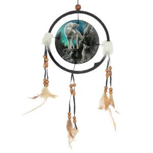 Decorative Wolf Design Dreamcatcher Small