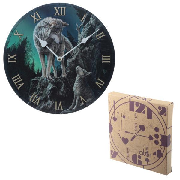 Decorative Wolf Guidance Lisa Parker Designed Wall Clock