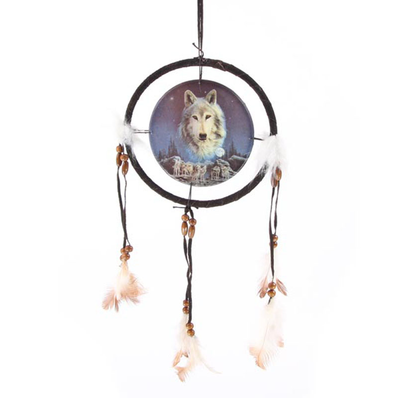 Decorative Wolf Spirit in the Sky 16cm Dreamcatcher