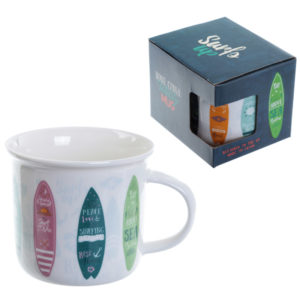 Enamel Mug Shape New Bone China Mug - Surfboards
