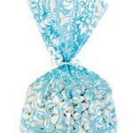 12 x Light Blue Swirl Cellophane Bags12 x Light Blue Swirl Cellophane Bags