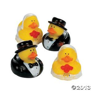 12 x Vinyl Bride And Groom Rubber Duckies12 x Vinyl Bride And Groom Rubber Duckies