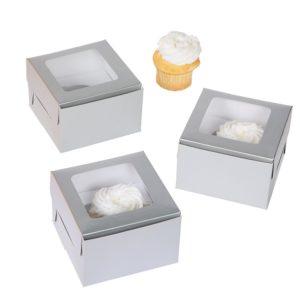 12 x Silver Single Cupcake Box12 x Silver Single Cupcake Box
