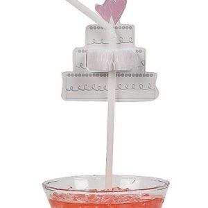 Tissue Wedding Cake Straws 24 StrawsTissue Wedding Cake Straws 24 Straws
