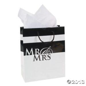 12 x Medium Mr. And Mrs. Wedding Gift Bags12 x Medium Mr. And Mrs. Wedding Gift Bags