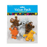 Pack of 6 Standing Zoo Animal Porcupine Ball CharactersPack of 6 Standing Zoo Animal Porcupine Ball Characters