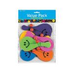 Pack of 12 Mini Smiley Face Paddleball Games