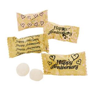 Golden Happy Anniversary Butter mints 120 PiecesGolden Happy Anniversary Butter mints 120 Pieces