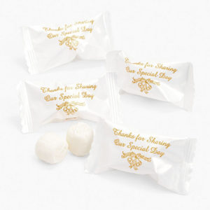 Thank You Message Butter mints Gold 120 PiecesThank You Message Butter mints Gold 120 Pieces