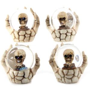 Fantasy Skeleton Hand and Skull Snow Globe
