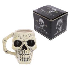 Fantasy Skull Head Shaped Ceramic Mug