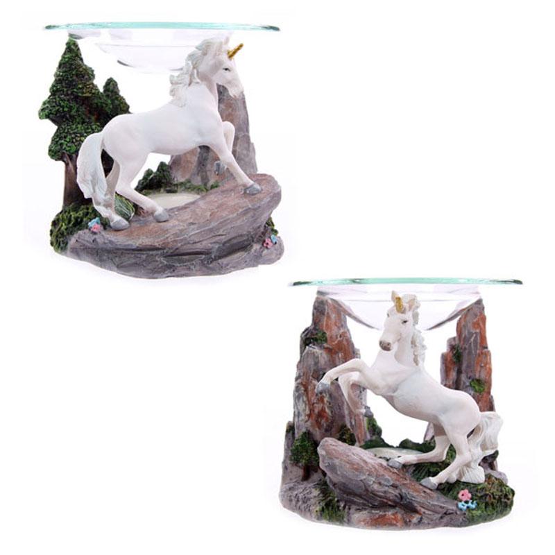 Fantasy Unicorn Design Oil Burner with Glass Dish