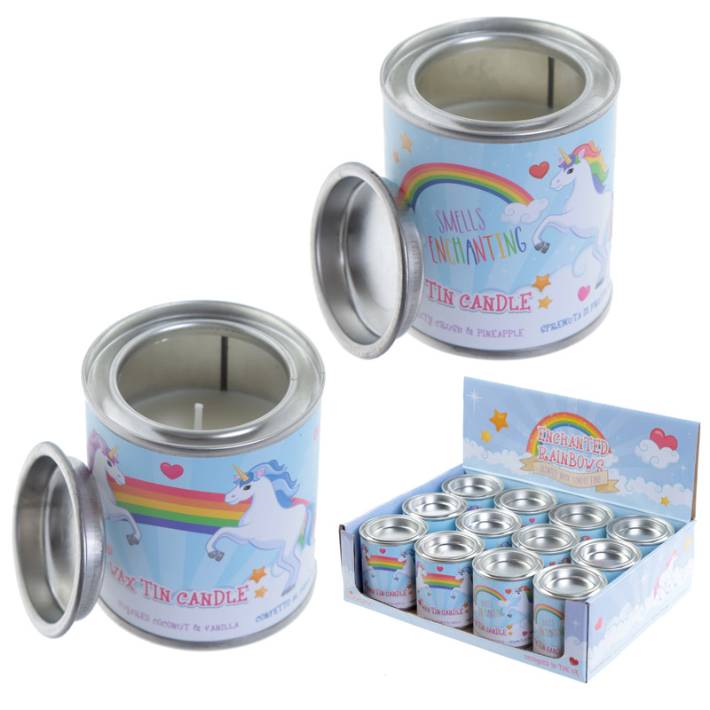 Fragranced Soya Candle Tin – Unicorn