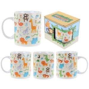 Fun Animal New Bone China Mug - Zoo Design