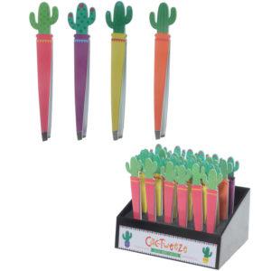 Fun Cactus Design Metal Tweezers