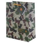 Fun Camouflage Design Medium Glossy Gift Bag