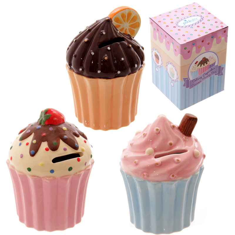 Fun Ceramic Cute Cupcake Money Box