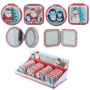 Fun Collectable Christmas Design Compact Mirror