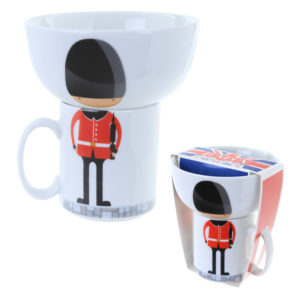 Fun Collectable Kids Porcelain Bowl and Mug Set - Guardsman