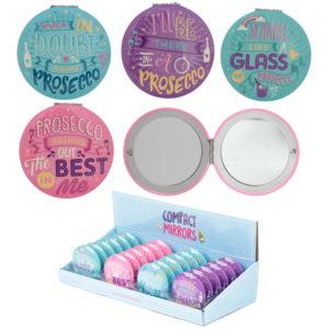 Fun Collectable Prosecco Design Compact Mirror