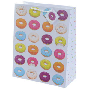 Fun Donut Design Large Glossy Gift Bag