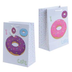 Fun Donut Design Medium Glossy Gift Bag