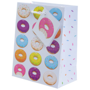 Fun Donut Design Small Glossy Gift Bag