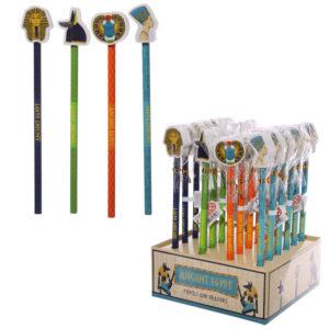 Fun Egyptian Design Pencil and Eraser Set