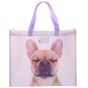 Fun French Bulldog Design Durable Reusable Shopping Bag
