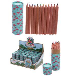 Fun Kids Colouring Pencil Tube - Tropical Design