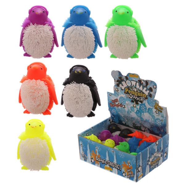 Fun Kids Light Up Squidgy Penguin Puff Pet
