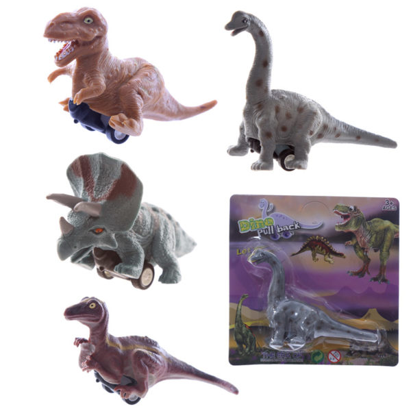 Fun Kids Pull Back Dinosaur Toy