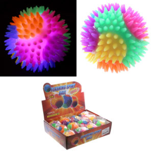 Fun Kids Spiky Bouncy Light Up Ball 7cm