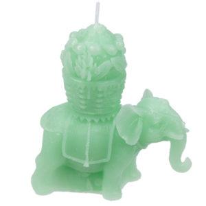 Fun Mini Candles - Small Lucky Green Elephant Design