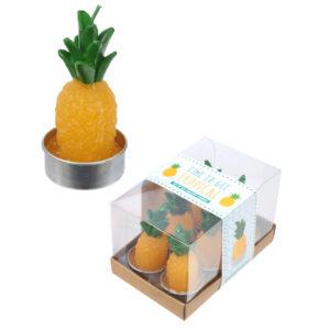 Fun Mini Candles - Tropical Pineapple Set of 6 Tea Lights
