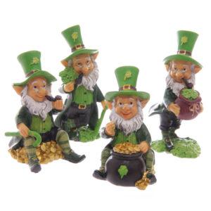 Fun Mini Collectable Leprechaun Figurines