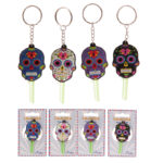 Fun Novelty Day of the Dead Skull PVC Key Cover Key Chain