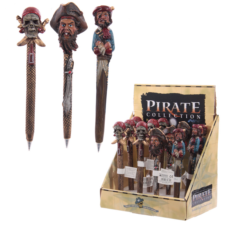 Fun Novelty Pirate Head Pen