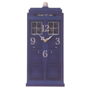 Fun Novelty Police Box Shaped Wall Clock