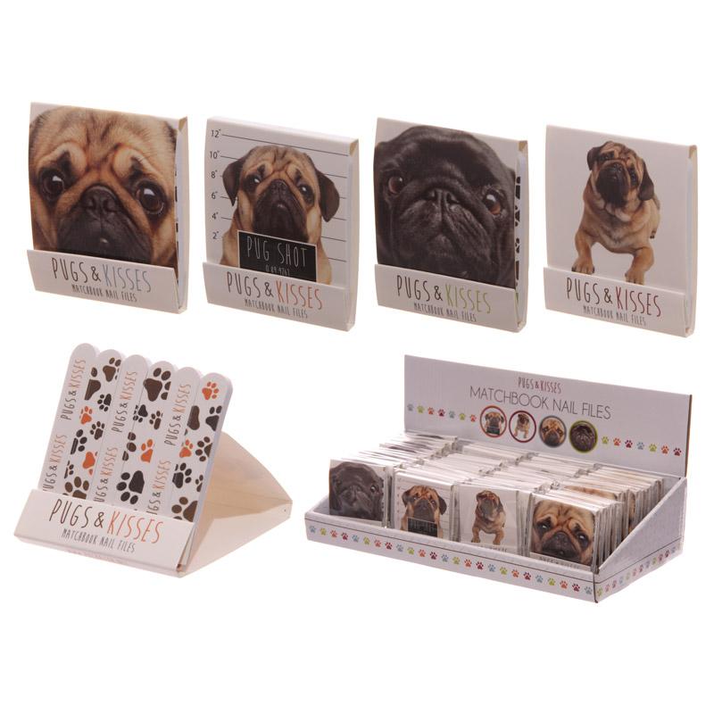 Fun Pug Print Matchbook Nail File