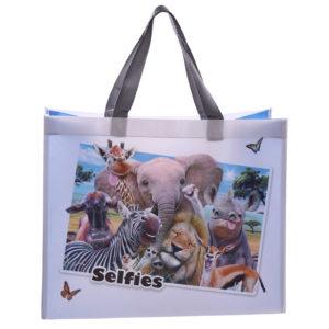 Fun Selfie Animals Durable Reusable Shopping Bag - African