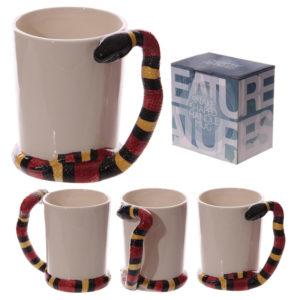 Fun Snake Shaped Handle Water Snake Ceramic Mug